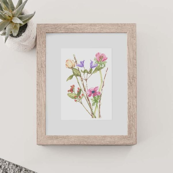 Mixed Flowers Print